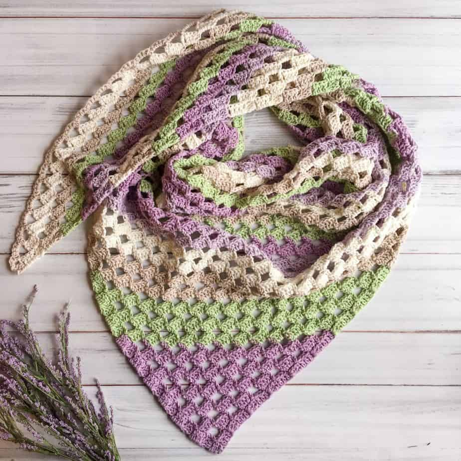 one cake crochet scarf