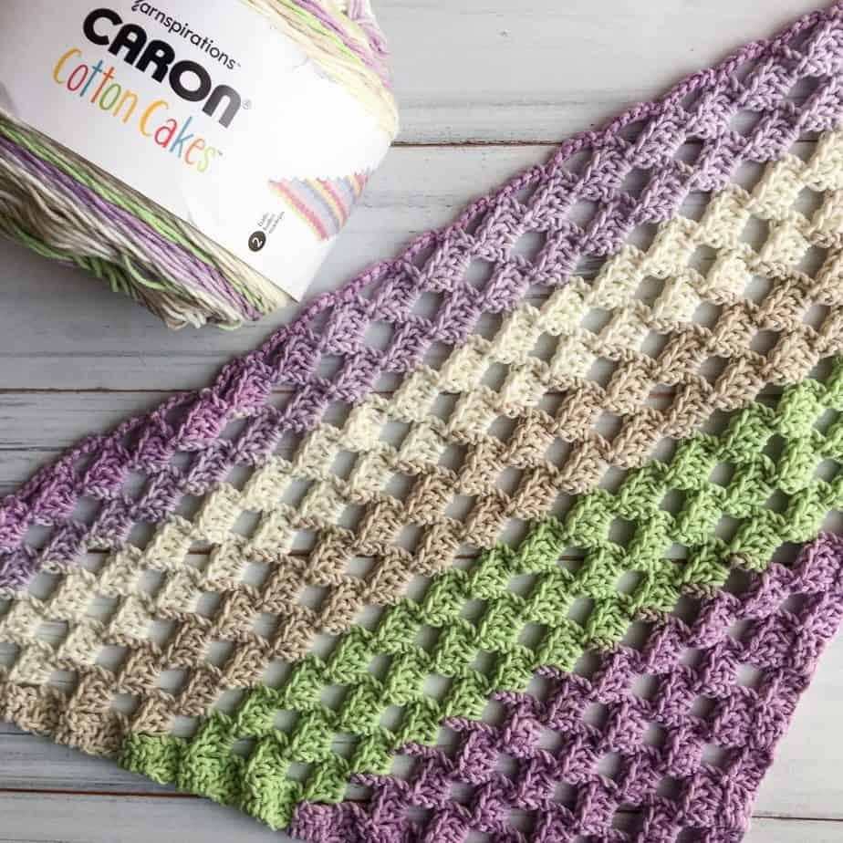 crochet c2c scarf