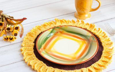 Sunflower Crochet Pattern Placemat free crochet pattern