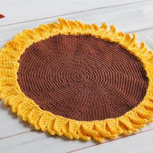 Sunflower Crochet Pattern placemat
