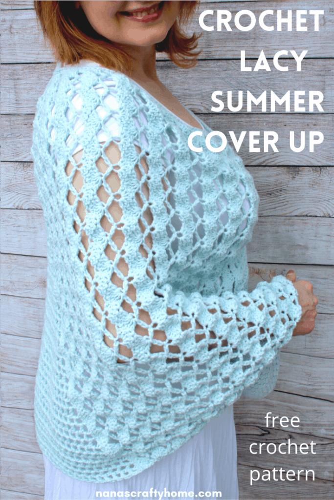 Lacy Summer Crochet Poncho free crochet pattern