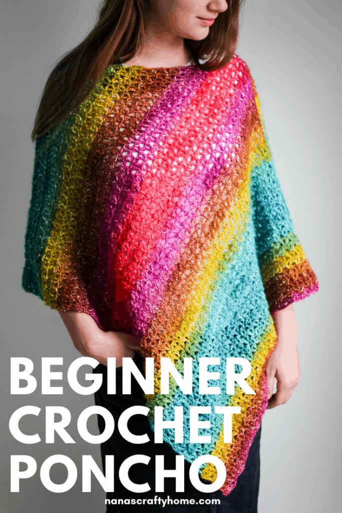 Bijou Asymmetrical Crochet Poncho pattern