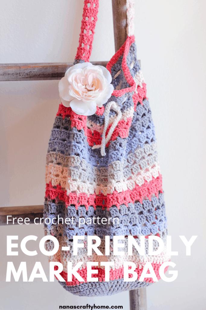 reusable crochet market bag