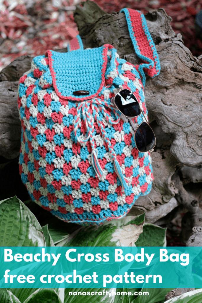 Beachy Cross Body Crochet Bag