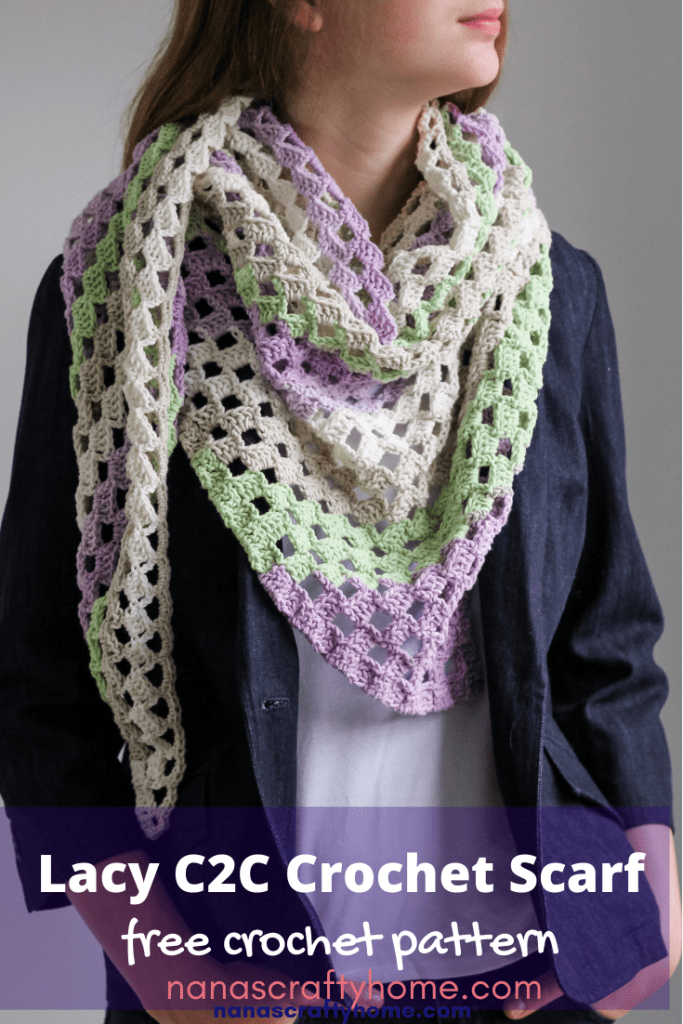 crochet triangle scarf free pattern