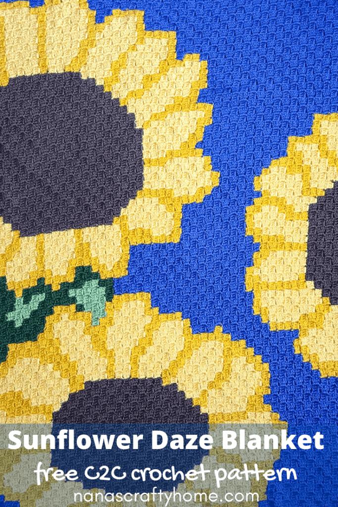 c2c sunflower crochet pattern