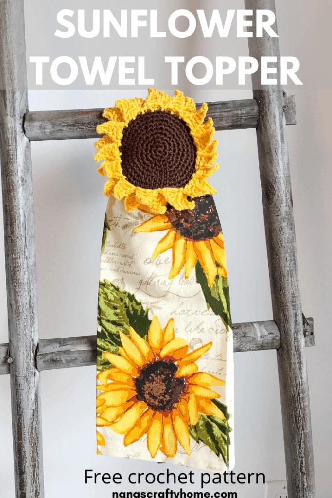 sunflower towel crochet pattern