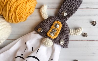 Crochet Viking Gnome Towel Topper