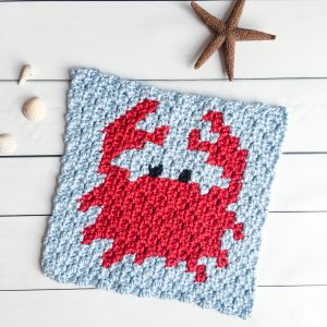 crochet crab graph free c2c pattern