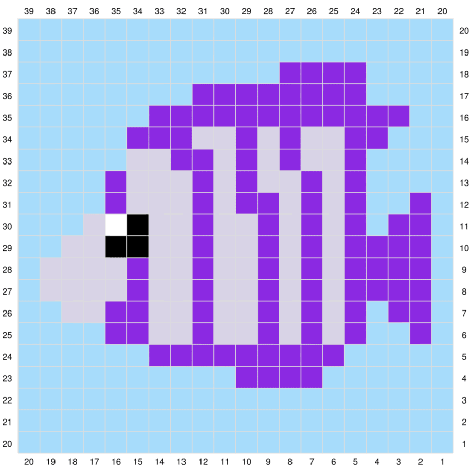 fish c2c crochet graph
