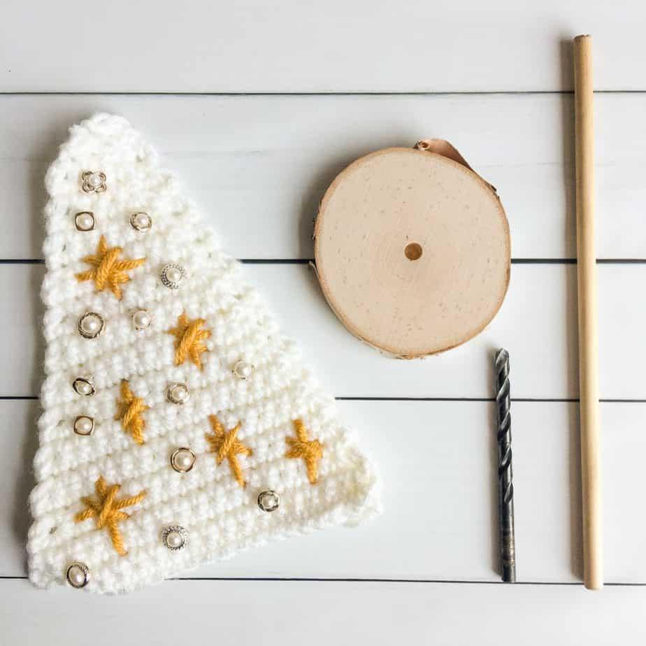 Crochet Christmas Tree stand tools