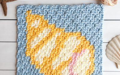 Shell Crochet Pattern free C2C graph