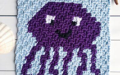 Crochet Jellyfish Pattern free C2C Graph