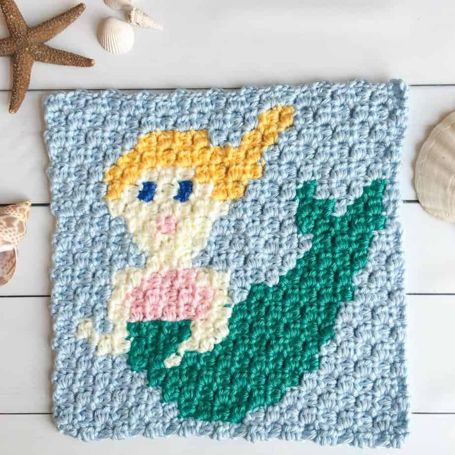 mermaid crochet pattern graph