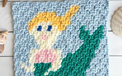 Mermaid Pattern free crochet c2c graph
