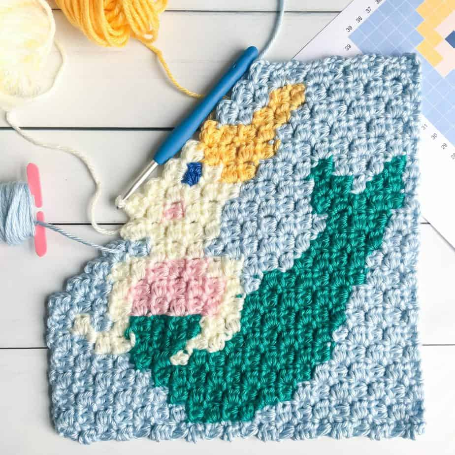 Mermaid pattern c2c square