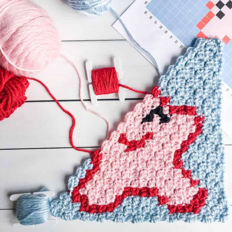 Starfish free crochet pattern square