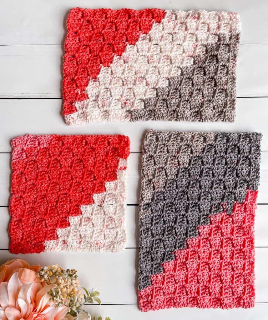 c2c rectangle crochet tutorial