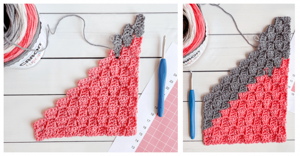 Learn how to crochet a c2c rectangle tutorial
