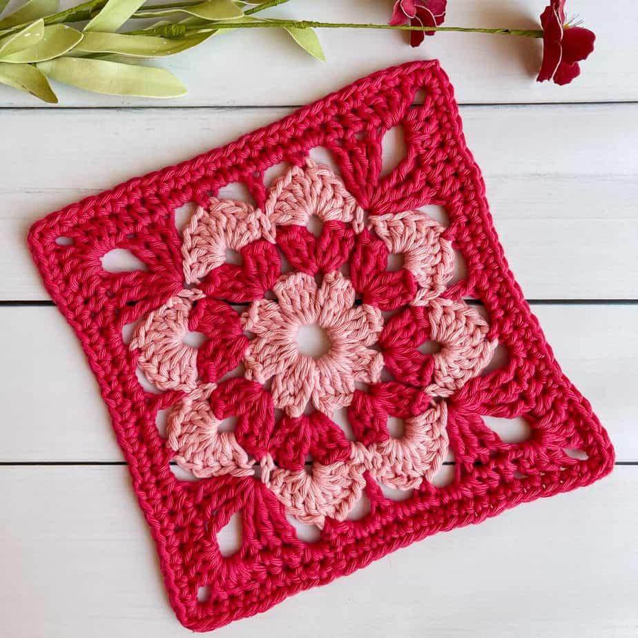 Cotton Candy Square crochet pattern