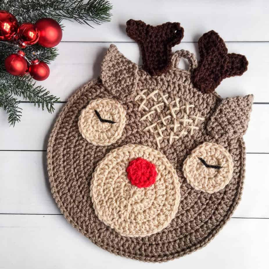 deer crochet hot pad pattern