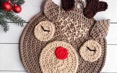 Crochet Reindeer Pattern free Hot Pad