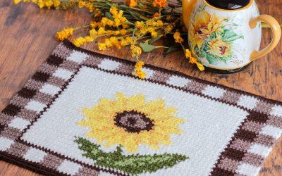Crochet Placemat Sunflower Pattern