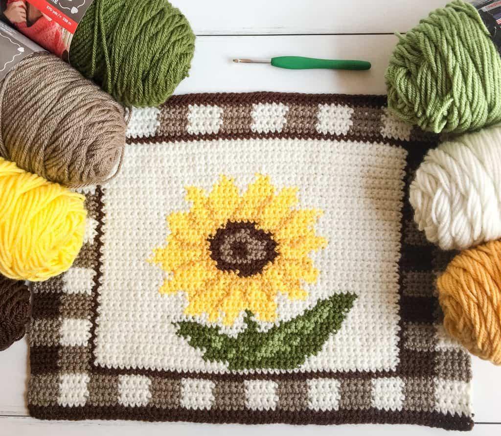 free crochet sunflower pattern
