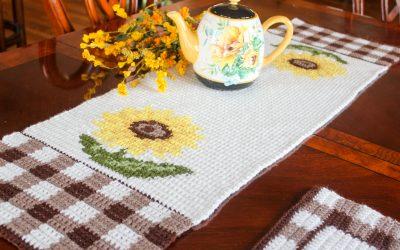 Sunflower Crochet Pattern Free Crochet Table Runner Pattern