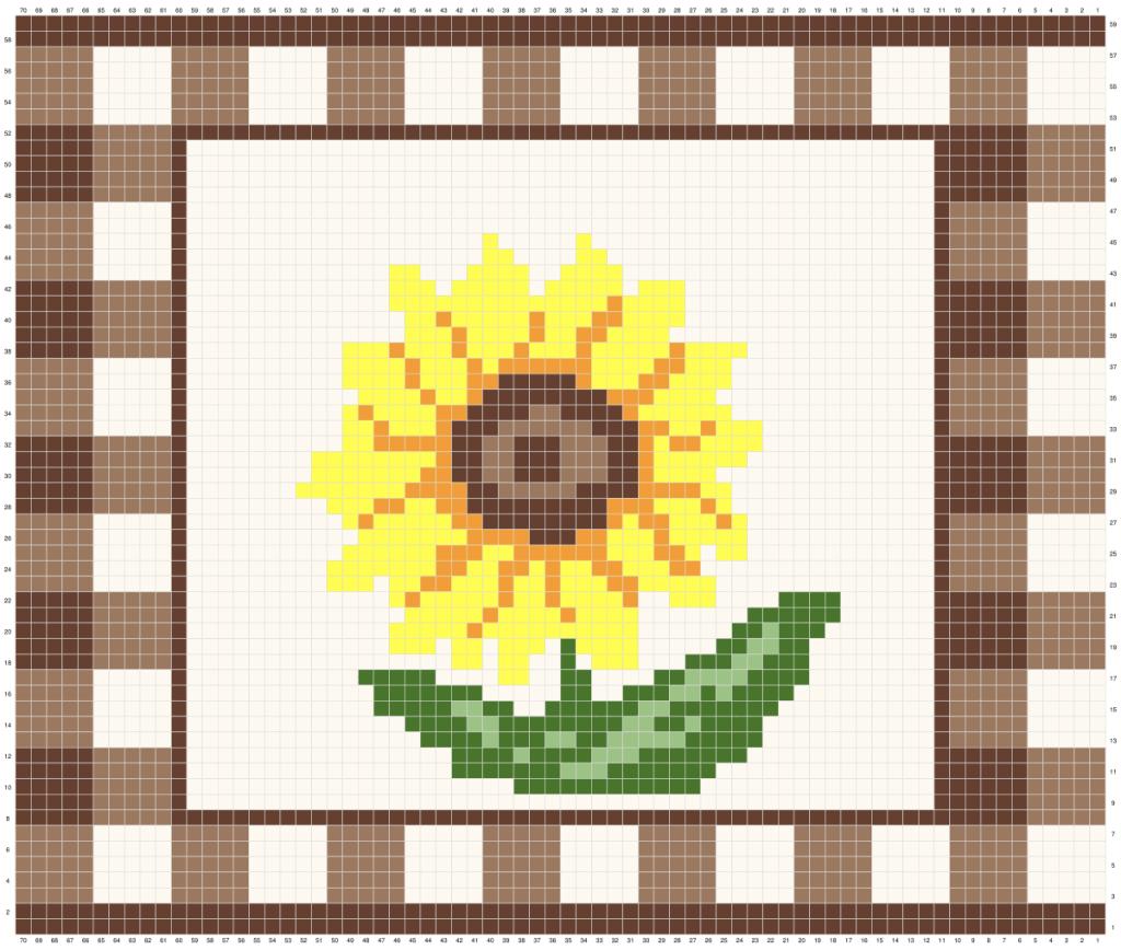 Sunflower Crochet Placemat Graph
