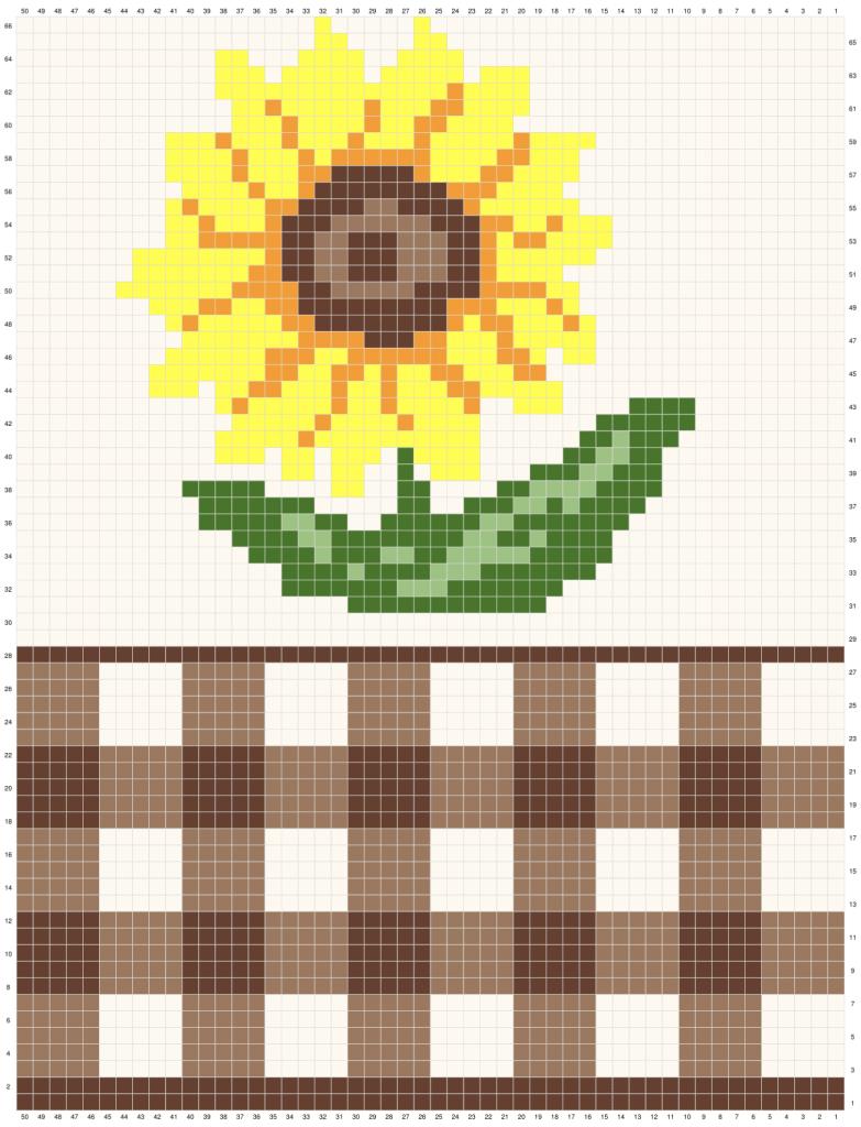 Crochet Sunflower Table Runner Graph 1