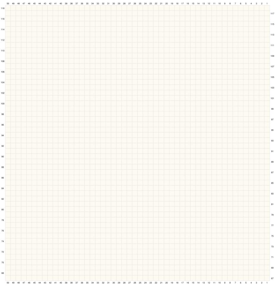 Crochet Sunflower Table Runner Graph 2