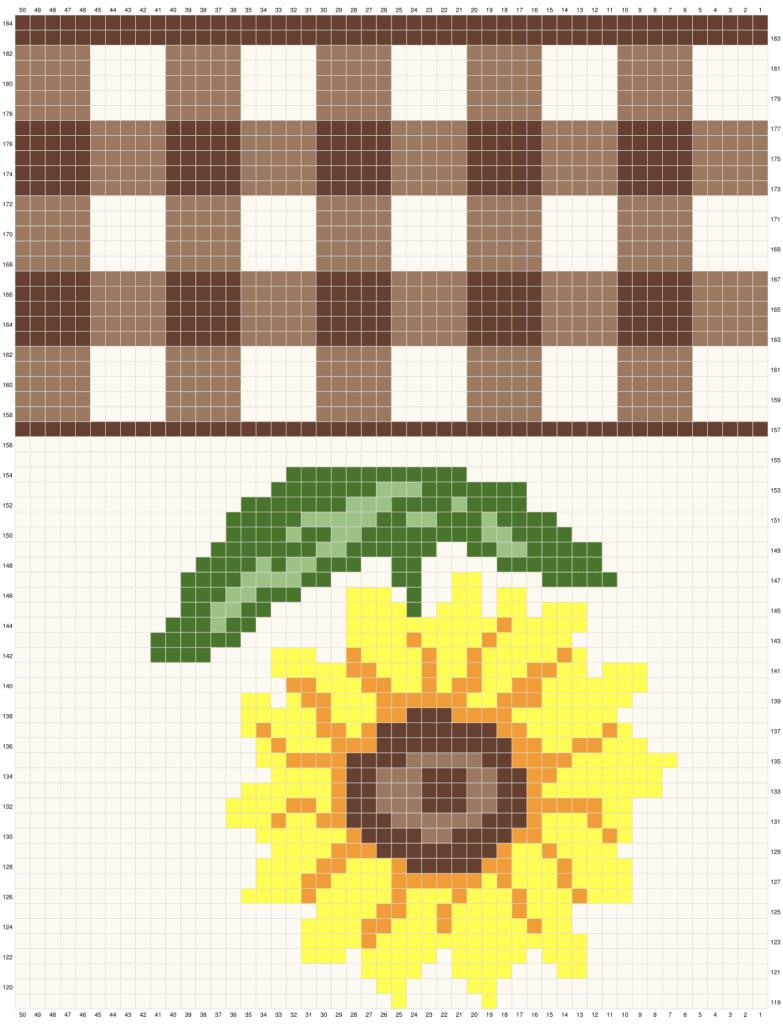 Crochet Sunflower Table Runner Graph 3