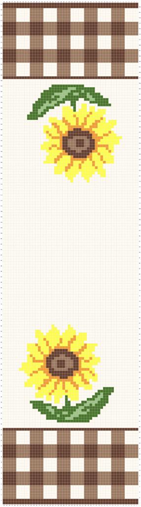 Sunflower Crochet Table Runner Complete graph