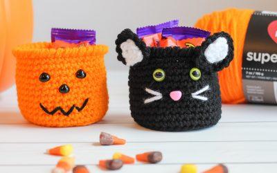 Halloween Crochet Pumpkin & Black Cat free crochet patterns