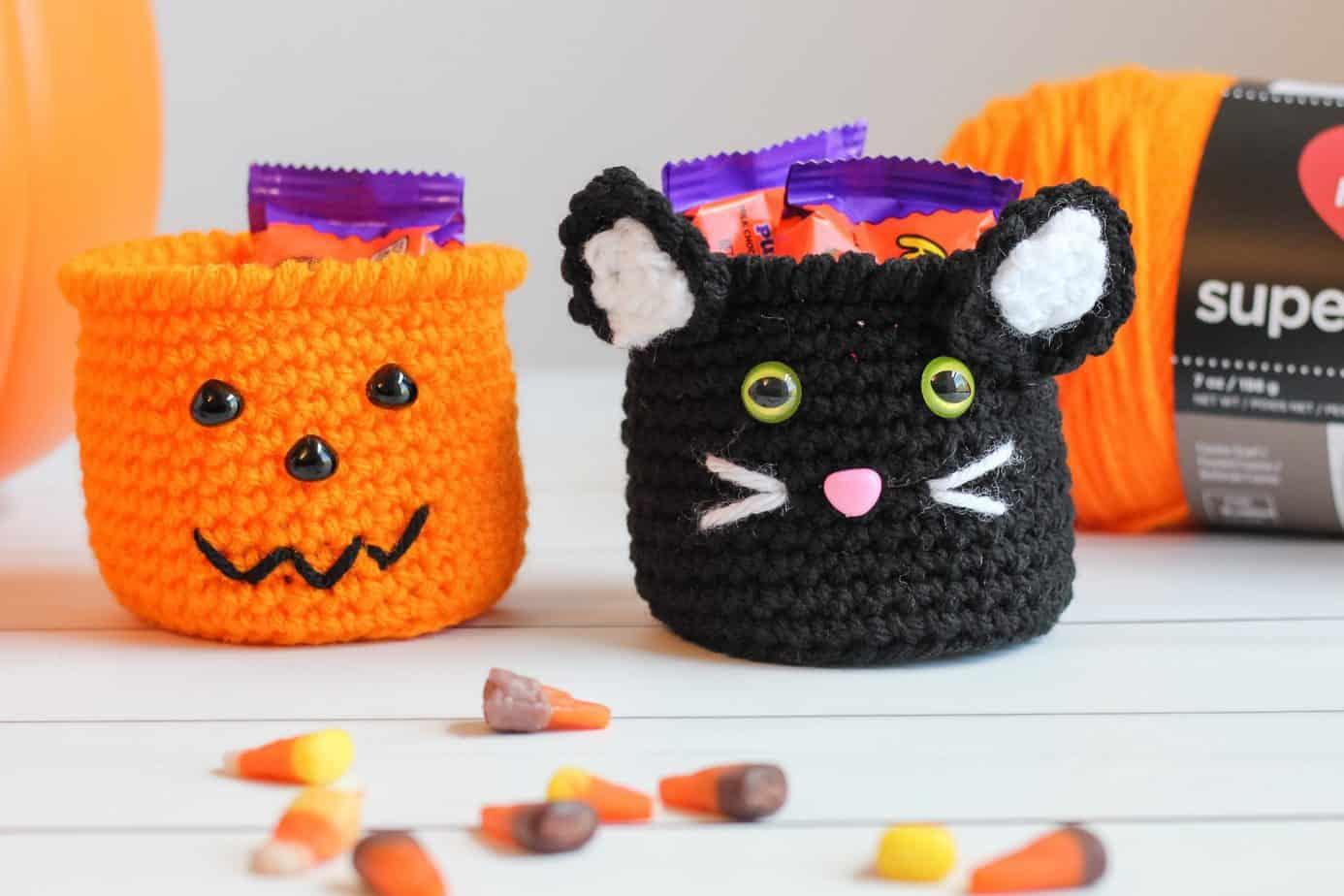 Crochet Black Cat pumpkin patterns