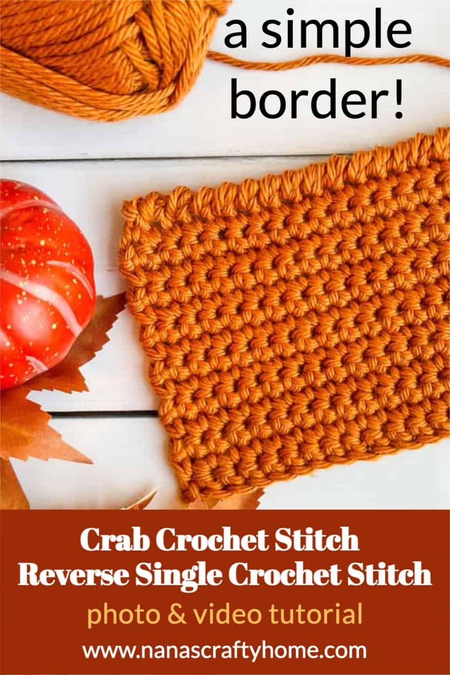 crochet crab stitch tutorial