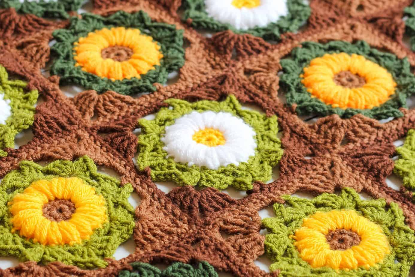 Granny Flower Square Blanket