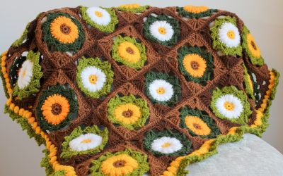 Crochet Flower Blanket Instructions with Video Guide