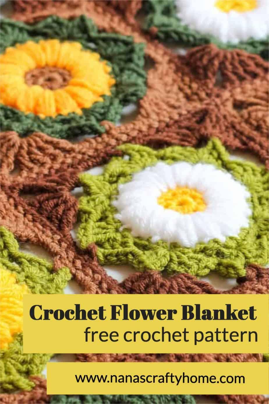 flower crochet square blanket