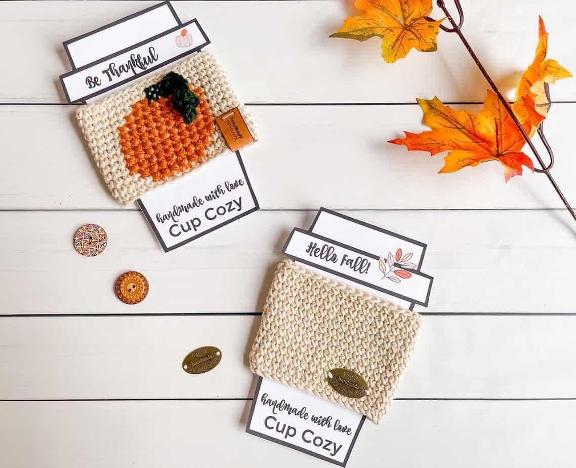 crochet coffee cup cozy pattern