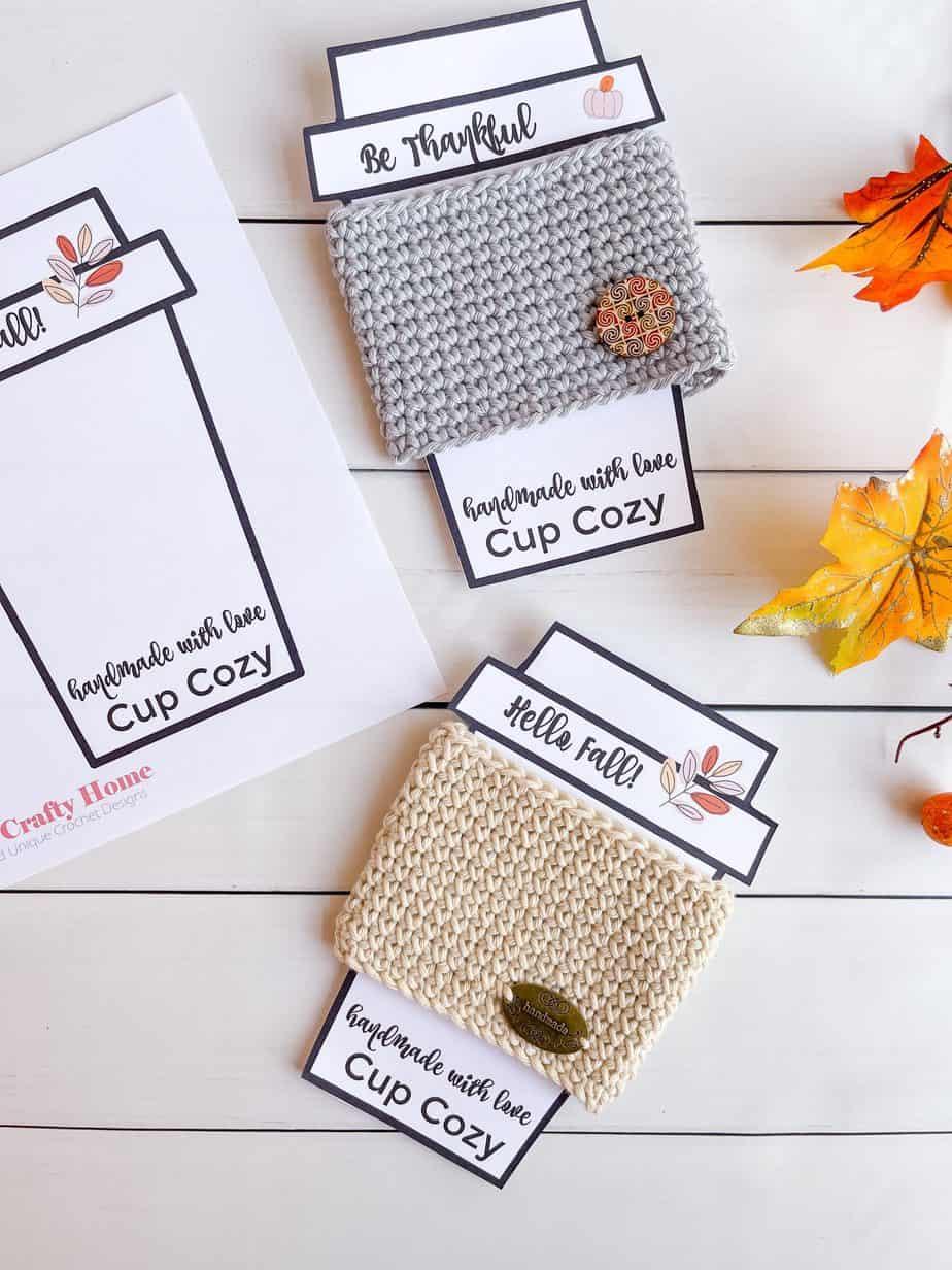 beginner crochet cup cozy