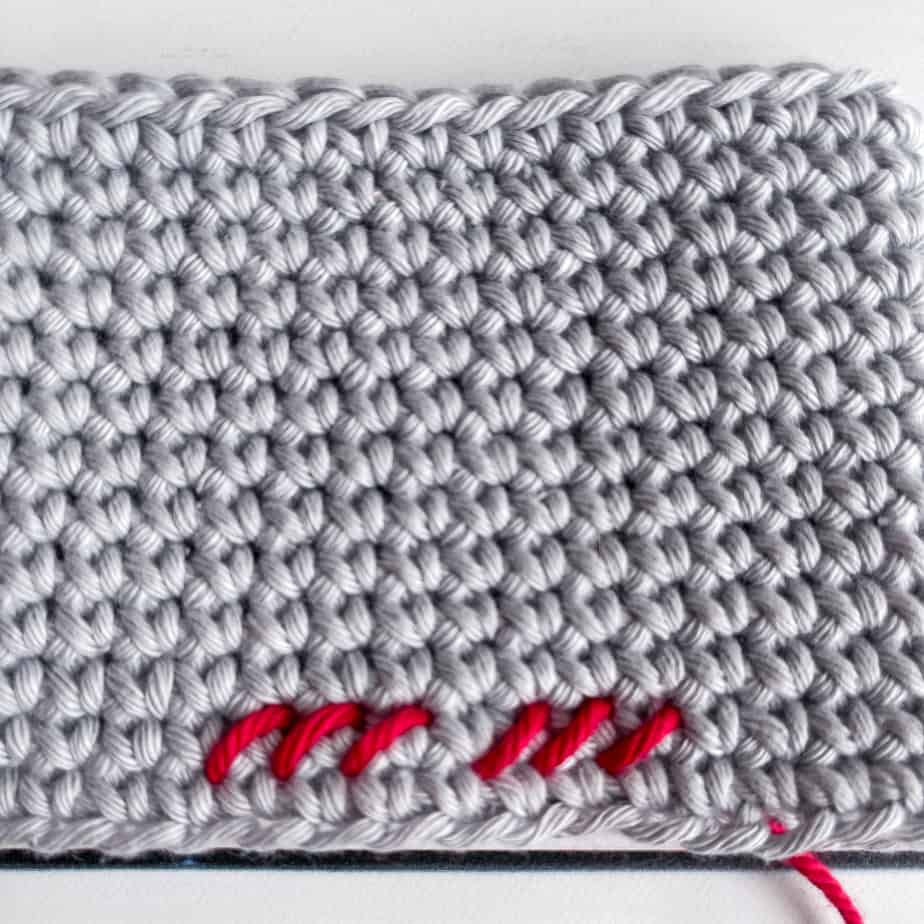 Cross Stitch on Single Crochet tutorial