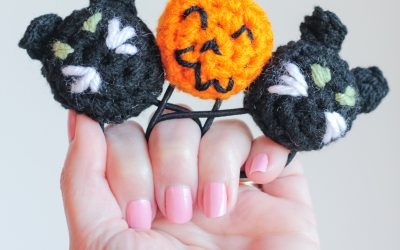 Halloween Crochet Ponytail Holder free crochet patterns