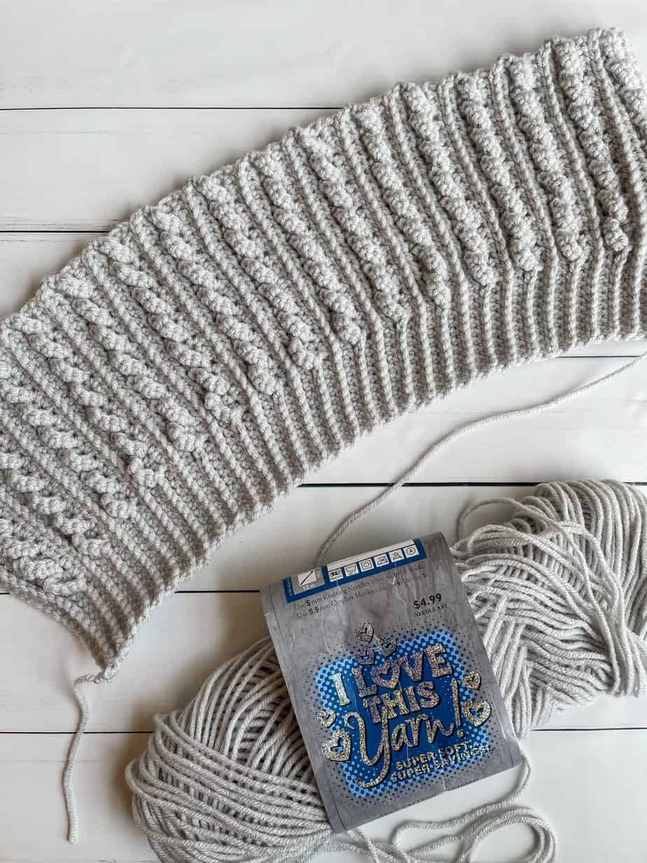 crochet faux cable beanie free pattern