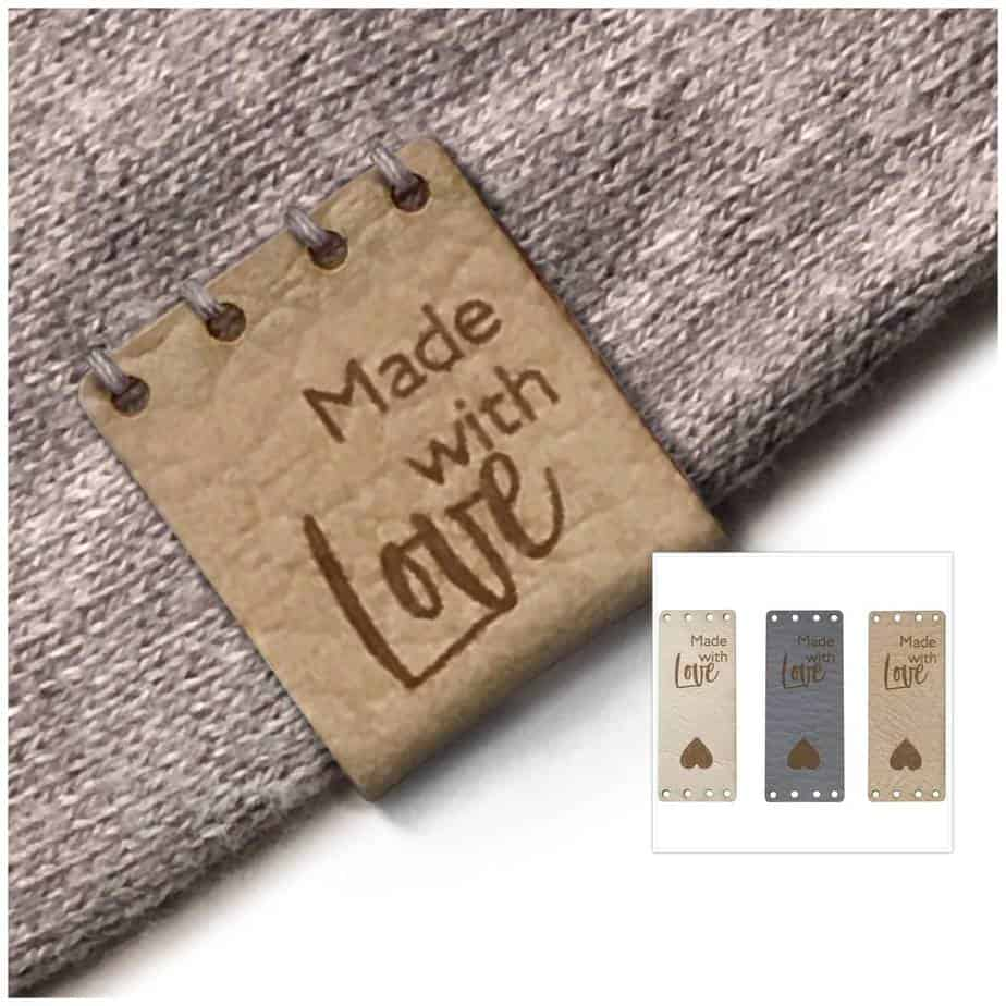 Made with Love handmade leather tags